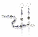 Sterling Silver Swarovski Lavender Pearls Floral Jewelry Design Kit