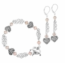 Whispering Hearts Bracelet & Earrings Jewelry Design Kit