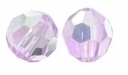 Light Amethsyt AB Swarovski  5000 6mm Crystal Beads (10PK)