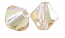 Crystal Light Colorado Topaz AB 5328 4mm Xilion Bicone Crystal Beads (10PK)