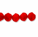 Czech Glass Fire Red 10x9mm Twisted Double Cone Beads (12PK)