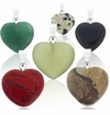 Gemstone Heart Pendants