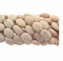 13x18mm White Turquoise Flat Oval Beads 16 Inch