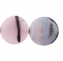 42mm Lavender Agate Round Disk Beads (1PC)