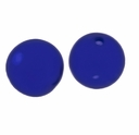 Hand Blown Glass Beads 13mm Round Glass Clear/ Blue Swirl Beads (1PC)
