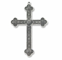 Antiqued Silver Large Ornate Cross (1PC)