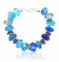 Blue Notes Large Hole Beaded Bracelet Design Idea