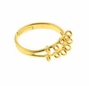 Gold Plated 17mm Adjustable Ring (1PC)