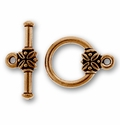 Copper Plated Pewter Toggles and Clasps
