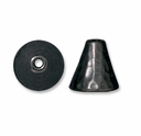 Black Finish Hammertone Cone