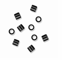 Black Finish 2 x 2 mm Crimp Bead (10PK)