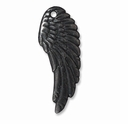 Black Finish Wing Charm