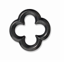 Black Finish Large Quatrefoil Link