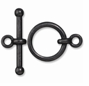 Black Finish 3/4 Inch Anna's Toggle Clasp