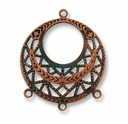 Antique Copper 3 Way Dangler Filigree (1PC)