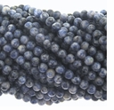 Denim Lapis 6mm Round Beads 16 inch Strand
