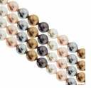 Multi Color 210 4mm South Sea Pearls 16-Inch Strand