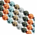 Multi Color 617 6mm South Sea Pearls 16-Inch Strand