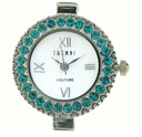 Round Blue Zircon Austrian Crystal Watch Face