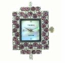 Rectangle Lt.. Amethyst Austrian Crystal Watch Face