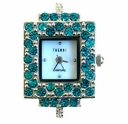 Rectangle Blue Zircon Austrian Crystal Watch Face