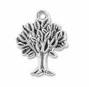 Antiqued Silver 22mm Tree Charm (10PK)