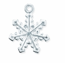Silver Plated 20mm Snowflake Charm (10PK)