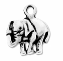 Antiqued Silver Elephant 13x15mm Charm (10PK)