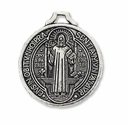 Antiqued Silver St. Benedict Religious Medal Charm (1PC)