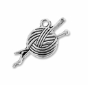Antiqued Silver Knitting Charm (10PK)