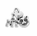 Antiqued Silver Love My Cat Charm (10PK)