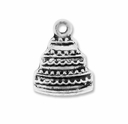 Antiqued Silver Cake Charm (10PK)