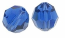 Majestic Crystal� Sapphire 6mm Faceted Round Crystal Beads (24PK)