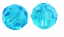 Majestic Crystal� Aquamarine 6mm Faceted Round Crystal Beads (24PK)