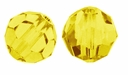 Majestic Crystal� Jonquil 6mm Faceted Round Crystal Beads (24PK)