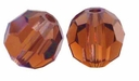 Majestic Crystal� Smokey Topaz 6mm Faceted Round Crystal Beads (24PK)