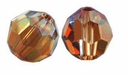Majestic Crystal� Smokey Topaz AB 6mm Faceted Round Crystal Beads (24PK)