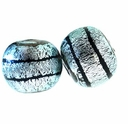 10mm Silver and Black Round Clear Dichroic Glass Bead (1PC)
