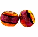 10mm Rust Clear w/ Rust Black Dichroic Glass Bead (1PC)
