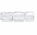 7mm Silver Clear Dichroic Tube Glass Bead (1PC)