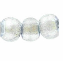 6mm Silver Clear Dichroic Round Glass Bead (1PC)