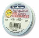 "Beadalon 49 strand .015"" 30ft"