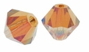 Crystal Copper 5328 4mm Swarovski Crystal XILION Bicones Beads (10PK)