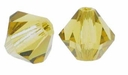 Lime 5328 4mm Swarovski Crystal XILION Bicones Beads (10PK)