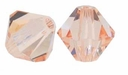Light Peach 5328 4mm Swarovski Crystal XILION Bicone Beads(10PK)