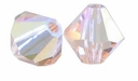 Light Peach AB 5328 4mm Swarovski Crystal XILION Bicones Beads (10PK)