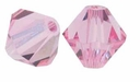Light Rose 5328 4mm Swarovski Crystal XILION Bicones Beads (10PK)