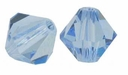 Light Sapphire 5328 4mm Swarovski Crystal XILION Bicones Beads (10PK)