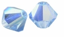 Light Sapphire AB 5328 4mm Swarovski Crystal XILION Bicones Beads (10PK)