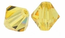 Light Topaz 5328 4mm Swarovski Crystal XILION Bicone Beads(10PK)